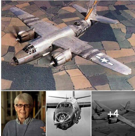 Edna Davis and 3 pics of B-26 Marauder
