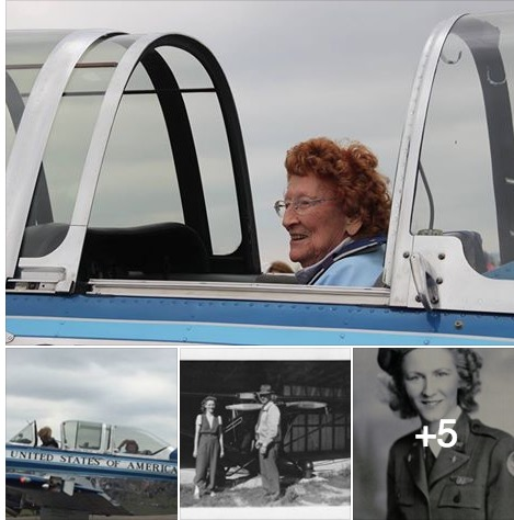 4 pics-Elizabeth Betty Wall Strohfus in airplane and one in uniform and one with man