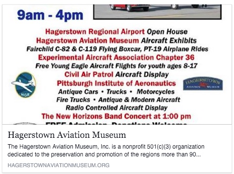Hagerstown Aviation Museum Flyer Ad