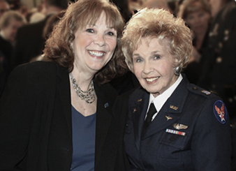 Nancy Parrish and mother Deanie Bishop Parrish, courtesy of Wings Across America.