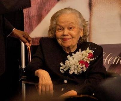 Mildred being honored as Alabama's first Female Pilot by Tuskegee Human and Civil Rights Multicultural Center in 2011