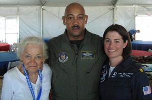 WASP Betty Blake, Col. Eugene Essex, Col. Nicole Malachowski