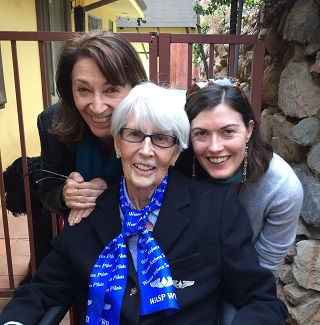 Director Matia Karrell, WASP Edna Davis and Producer Hilary Prentice