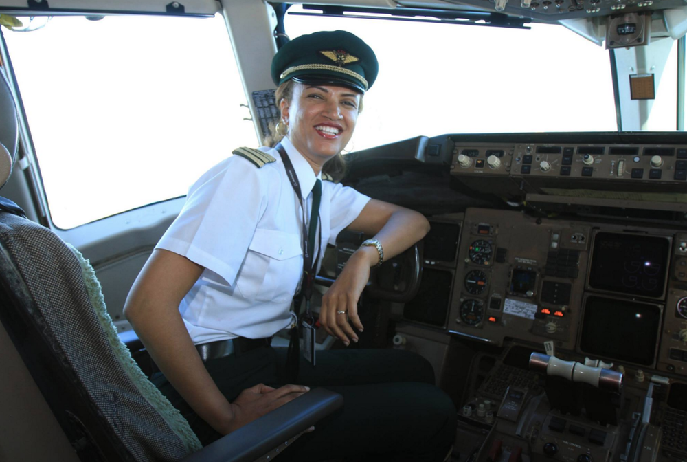 Amsale Gualu (Ethiopia). First female captain in the history of Ethiopian Airlines.   (Photo credit: Ethiopian Airlines facebook)