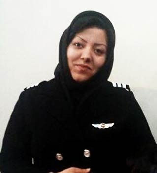 Fatemeh Azadeh (Iran). Pilot in command. (Photo credit:  theiranproject.com )