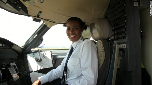 Esther Mbabazi (Rwanda). Rwanda's first female pilot. (Photo credit:  Onobello.com )