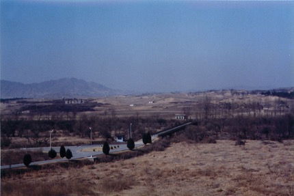 The border between North Korea and South Korea. Our post was only ten kilometers south of the DMZ
