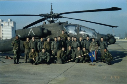 My company of soldiers and warrant officers at Camp Page, Korea
