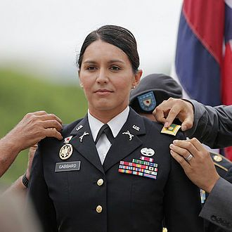 Gabbard's promotion to Major, 2015.