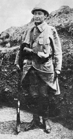 Marvingt in Military Uniform, WWI