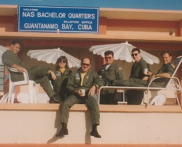 Shinnick with her crew in Guantanomo Bay, Cuba