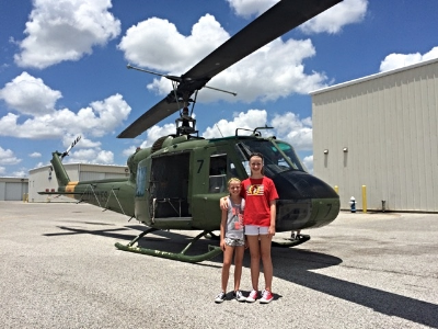 The Borland girls and UH-1E 153762 (Photo credit: Sean Borland)