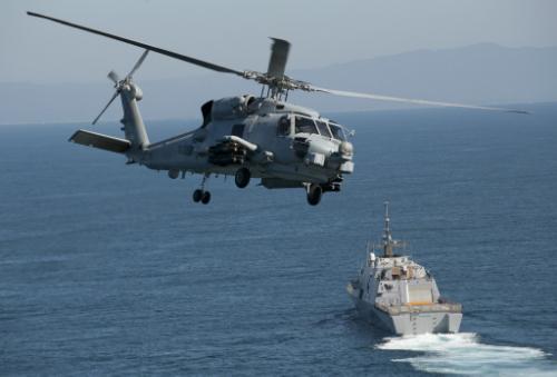 The MH-60R Seahawk.