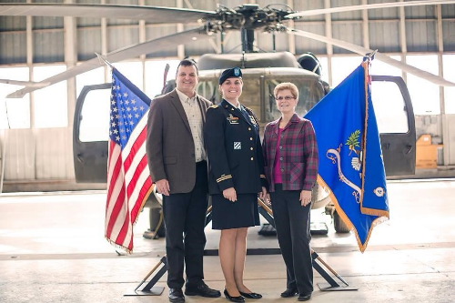 Captain Munera and her parents, both veterans. They have always inspired her! (Photo: Kathryn Munera)