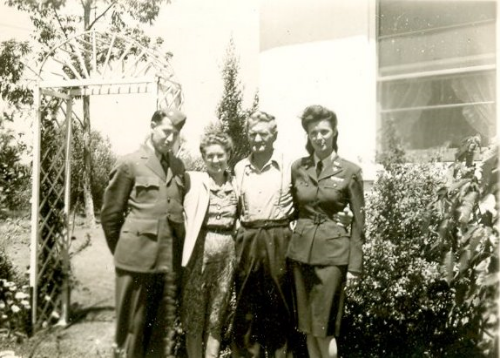 Isabelle with husband Roderick Scott McCrae, USN enlisted PBY pilot, and her parents Mr. and Mrs. Bird Garrett.