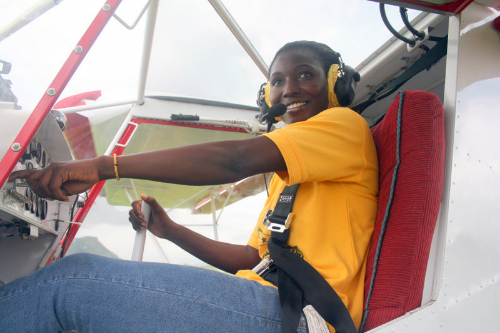 Patricia Mawuli (Ghana). First female civilian pilot, first West African woman certified to build & maintain rotax engines. (Photo credit:  karlenepettitt.blogspot.com )