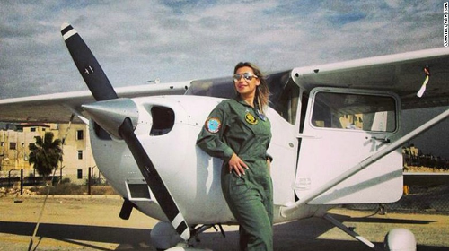 Alia Twal (Jordan). One of only 20 women pilots in Jordan. (Photo credit:  CNN.com )