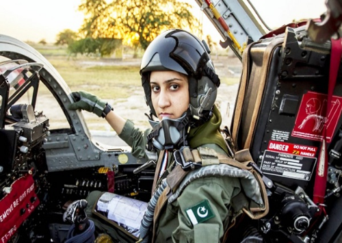 Ayesha Farooq (Pakistan). First female operational fighter pilot in the Pakistani Air Force.                 (Photo credit:  ndtv.com )