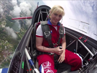 Svetlana Kapanina (Russia). World Aerobatic Champion, 40 gold medals.  (Photo credit: Reddit)