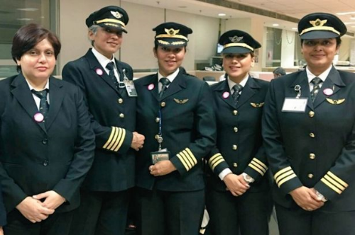 Full flight: The Air India's all women flight AI173 is set to mark International Women's Day (photo credit: Air India)