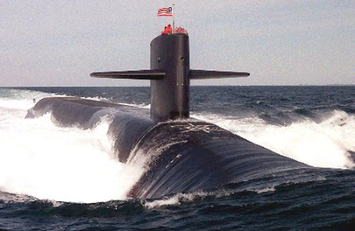 "An Ohio Class Submarine, frequently known as a ""boomer"""