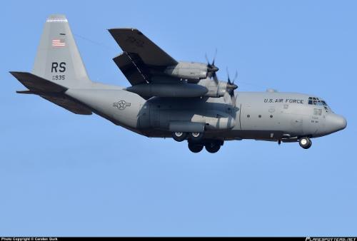 USAF Lockheed C130-E Hercules (Photo credit: Carsten Gurk, Planespotters.net)