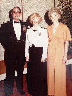 With her parents at Initial Entry Rotary Wing (IERW) flight school in February 1981, Graduation Ball.