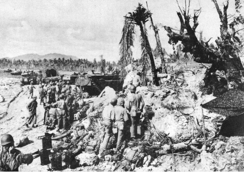 The Marines and Coast Guard on the beaches of Guam. (Photo credit: WWII Archives)
