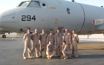 Mission Commander Hinderer and crew in their first crew photo after getting to the desert.   (Photo credit: Kelly Hinderer)
