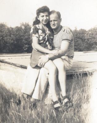 May & Bill in the Poconos, 1944