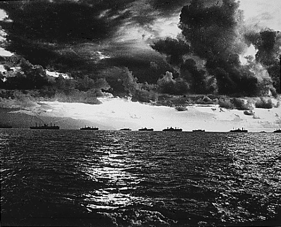 U.S. Navy Fleet, Leyte. October 1944. (Photo: WWII Archives)