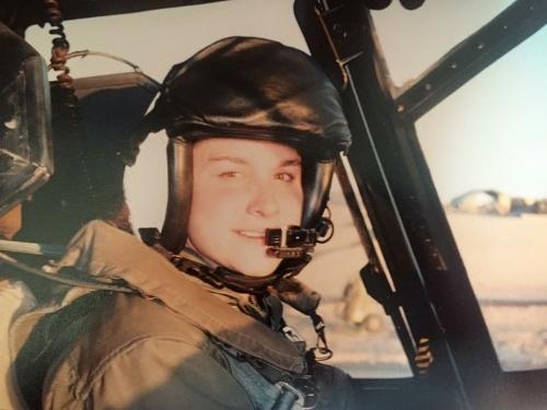 Grit in action: USMC officer and pilot Jen Nothelfer on mission. (Photo: She's Got Grit/Jen Nothelfer)