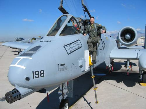 Lt Col Barlette with the A-10