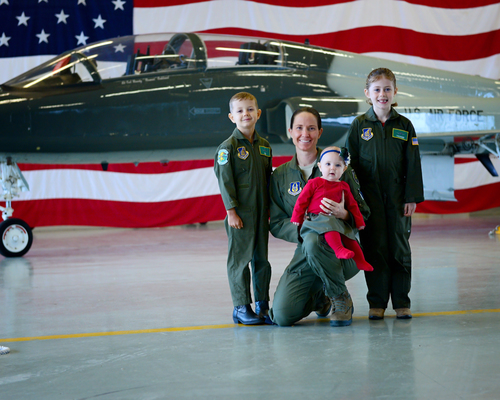Lt Col Barlette with her children. (Photo: Photo: Scrappy Doodles Photography and Design)
