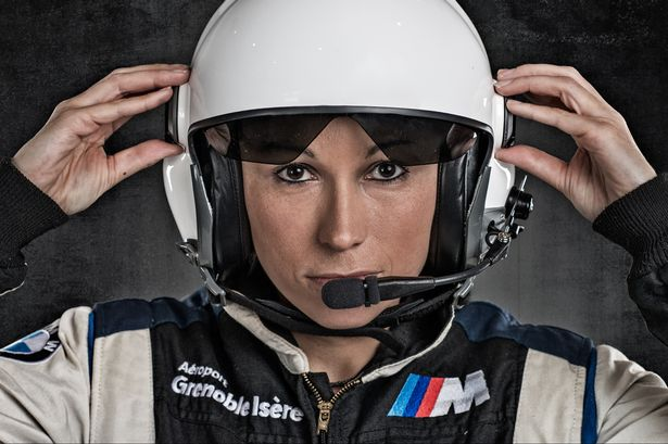 Melanie Astles. Red Bull Air Race Pilot, five-time aerobatics champion in France. (Photo: Joerg Mitter, Limex Images)