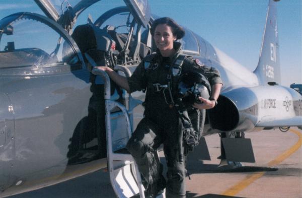Lt Col Mau at Sheppard AFB, 1999. (Photo: Christine Mau)