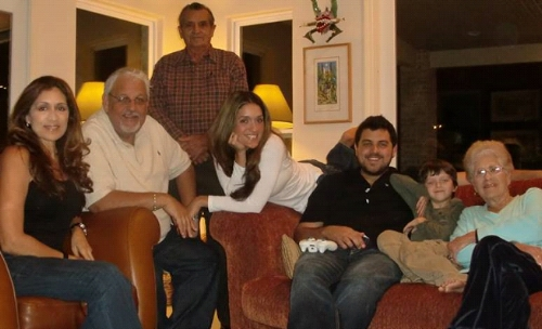 Olga with her family. They are her inspiration and always encouraged her to follow her dreams. Left to Right: Olga Custodio with her husband, Edwin; her father, Ismael; her daughter, Marcia; her son, Edwin II; her grandson, Jedi; her mother, Olga. (Photo: Olga Custodio)