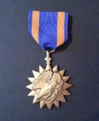 The USAF Air Medal for combat air ops over Iraq during Southern No-Fly Zone enforcement. (Photo: Graciela Tiscareno-Sato)