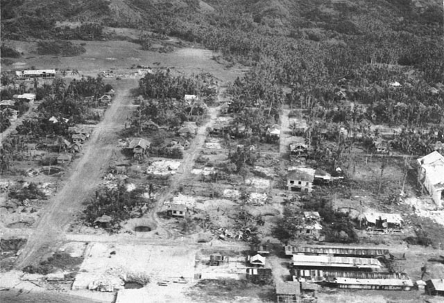 Palompon after the allied bombings, December 1944.