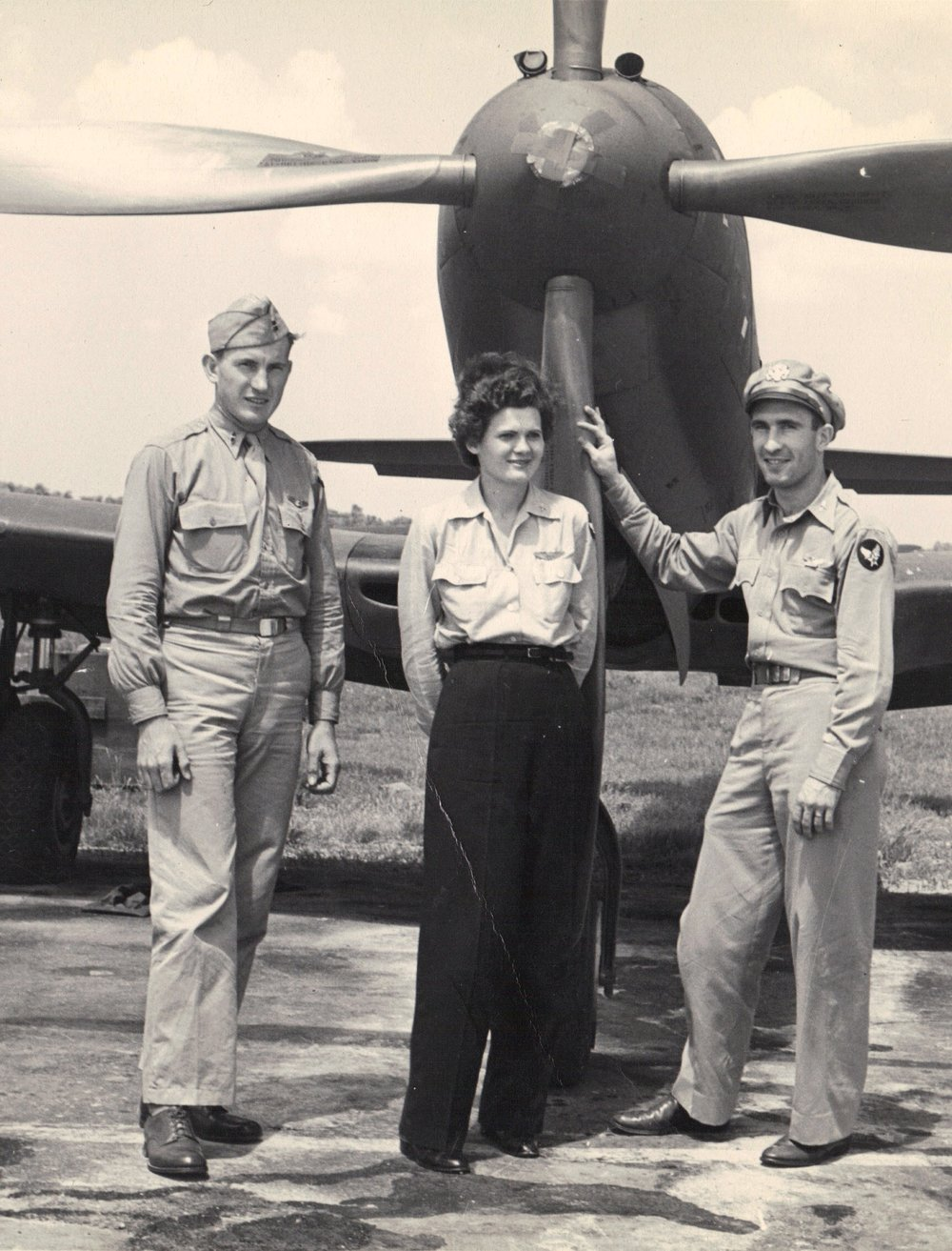 Helm with unidentified pilots preparing to ferry a P-63 headed to Russia. (Photo: Jay Helm, via Arizona Public Media)