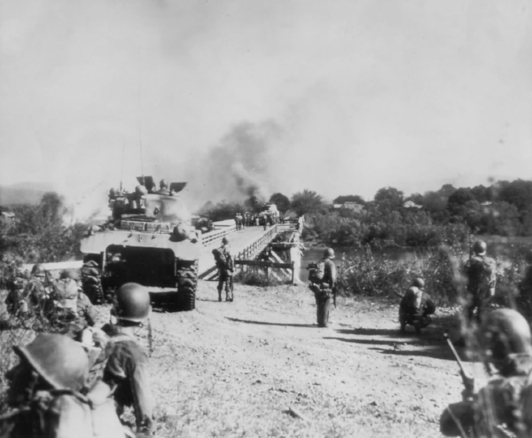 M4 Sherman Tanks Fight the Japanese At Subic Bay, Philippines February 1945 (Photo: WWII Archives)