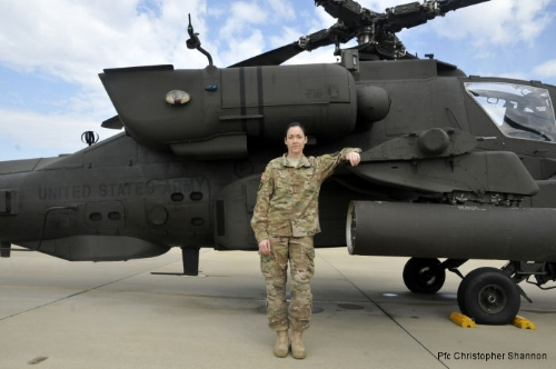 Warrant Officer Jessica McCormick is the first female Mississippi Army National Guard Apache pilot. (Photo Credit: Pfc. Christopher Shannon)