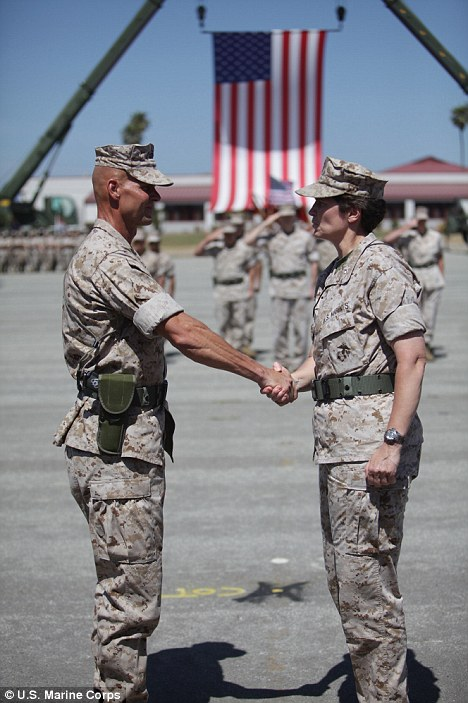 Brigadier General Loretta Reynolds at Parris Island. (Photo: USMC)