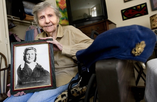 Catherine Chatham fondly recalled her WASP days. (Photo: The Eagle/Stuart Villanueva http://theeagle.com)