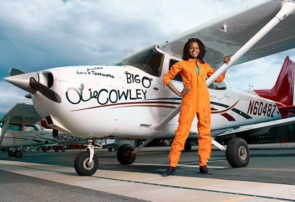 Pilot Kimberly Anyadike. (Photo: African Leadership Magazine)