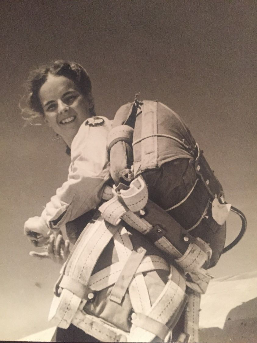 Ruth Adams dressed and ready for flight. Courtesy of the American Legacy Museum.