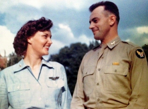 Elizabeth Harmon & Major Mark C. Bane when they first met. (Photo courtesy of Susan Bane Summers)