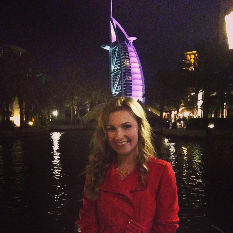 Obligatory tourist pic with the Burj Al Arab.