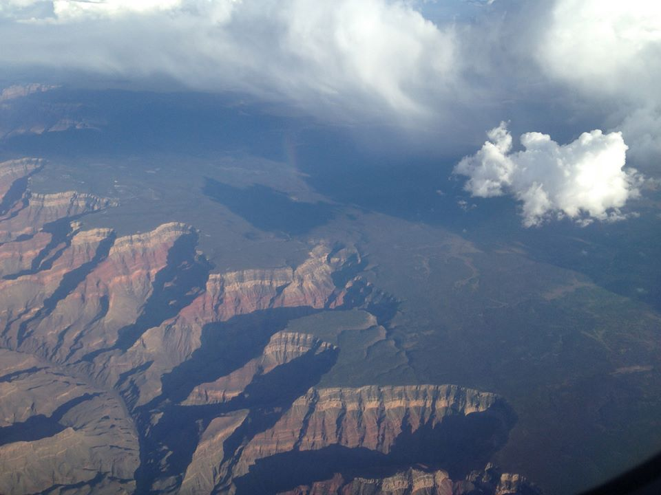 Flying over the Grand Canyon really gives you perspective on how massive it is.
