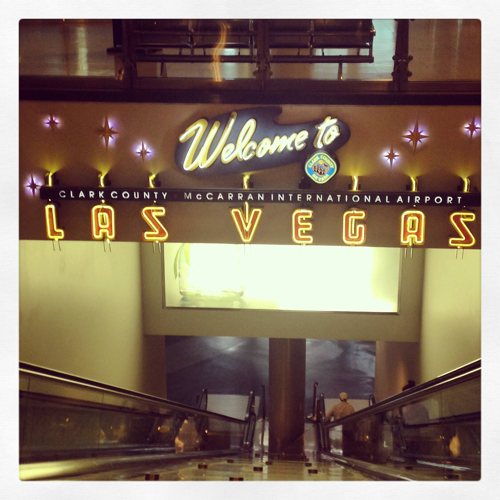 Welcome to Vegas! Sign at the airport.